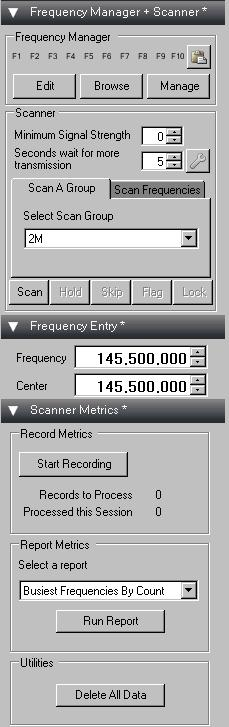 Image: Frequency Manager / Scanner / Scanner Metrics / Frequency Entry bundle Plugin